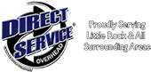 Garage Door Repair Little Rock – Direct Service Overhead Logo
